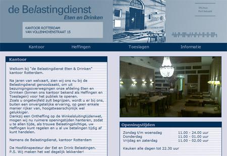 Homepage van debelastingdienst.nl