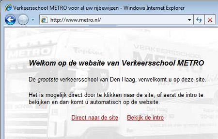Homepage van metro.nl