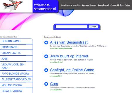 Homepage van sesamstaat.nl