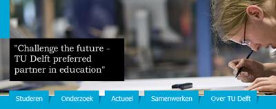 De nieuwe topnavigatie van TUDelft.nl
