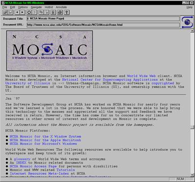 Screenshot van MOSAIC 1.0