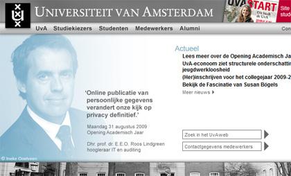 Doelgroepingangen op UvA.nl