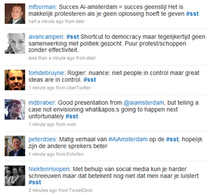 Twitterstream over ai! amsterdam