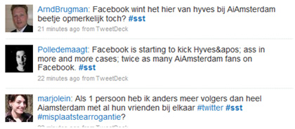 Twitterstream over facebook vs hyves