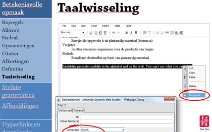 Slide uit de Webrichtlijnen redactietraining