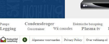 Wehkamp toont Drempelvrij en Thuiswinkel logo's