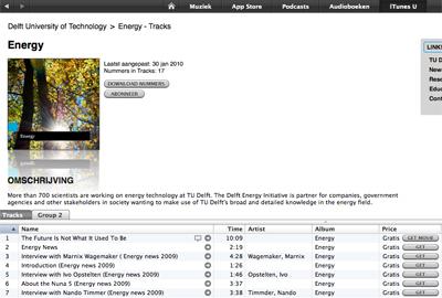 iTunes U kanaal van TU Delft
