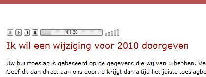 De voorleeshulp op Toeslagen.nl