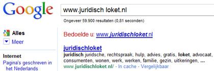 Sommige mensen typen urls in het zoekveld van Google